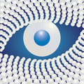 Pearl Eye abstract illustration Stock Photos