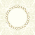 Pearl frame background with vector illustration Royalty Free Stock Photo