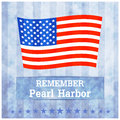 Pearl harbor illustration remembrance day vector with a flag od usa Stock Photography