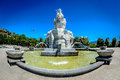 Pearl island entrance fountain nha trang vietnam resort Stock Image