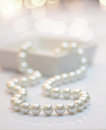 Pearl necklace close up image of a Royalty Free Stock Photos