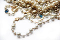 Pearl necklace. Royalty Free Stock Photo