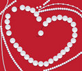 Pearl necklace of heart shape Royalty Free Stock Image