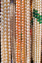 Pearl necklaces the background of Stock Photo