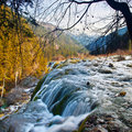 Pearl shoal waterfall in Jiuzhai Valley Royalty Free Stock Image