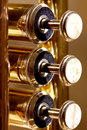 Pearl valves of a trumpet Stock Images