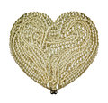 Pearls arranged shape heart Royalty Free Stock Image