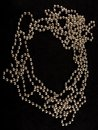 Pearls on  black  background Royalty Free Stock Photo