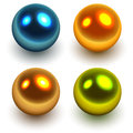 Pearls colorful balls vector illustration Stock Images