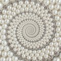 Pearls and diamonds jewels abstract spiral background pattern fractal. Pearls background, repetitive pattern. Abstract pearl backg Royalty Free Stock Photo
