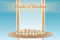Pearls of Wisdom Royalty Free Stock Photo