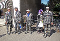 Pearly kings and queens photo of at the yearly hop festival in faversham town in kent on st august photo ideal for carnivals Royalty Free Stock Photos