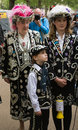 Pearly Queen and Family at the Royal Wedding Stock Images
