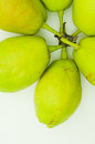 Pears arranged on white background Stock Images