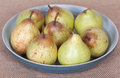 Pears in the bowl Stock Images