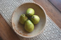 Pears in a bowl Royalty Free Stock Photo