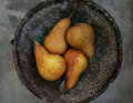 Pears in the bowl Royalty Free Stock Photo