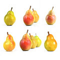 Pears composition Stock Images
