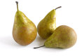 Pears conference three isolated on white background Royalty Free Stock Images