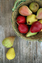 Pears different kind of outdoors Royalty Free Stock Photo
