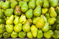 Pears in food store on a stall Royalty Free Stock Image