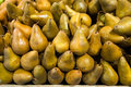 Pears in food store on a stall Stock Image