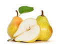 Pears fresh over white background Royalty Free Stock Photos