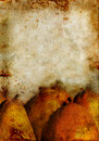 Pears on a Grunge background Royalty Free Stock Photography