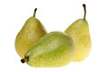 Pears isolated over a white background Stock Photos