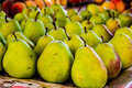 Pears on the market Royalty Free Stock Photo
