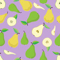 Pears pattern Royalty Free Stock Photo