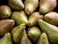 Pears pile of shot from above Royalty Free Stock Photos