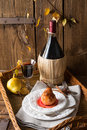 Pears in red wine a fresh and tasty Royalty Free Stock Photos