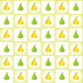 Pears ripe pattern vector background Stock Photos