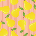Pears seamless pattern. Stock Image