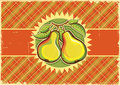 Pears vintage label background old paper texture Stock Image