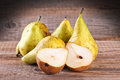 Pears on wooden table. Royalty Free Stock Photo