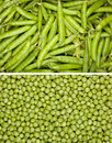 Peas background Stock Images