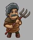 Peasant cartoon character
