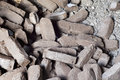 Peat briquettes background pile of brown Stock Images