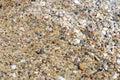 Pebble beach on the coast of greece Stock Image