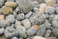 Pebble stone beach stones background Stock Images