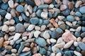Pebble the stone on black sea close Royalty Free Stock Photos