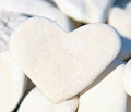 Pebble stone heart Royalty Free Stock Photo