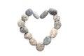 Pebble stone in heart shape Royalty Free Stock Photo