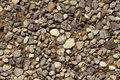 Pebble stones on ground Royalty Free Stock Images