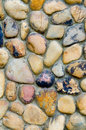 Pebble wall Royalty Free Stock Photography
