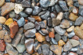 Pebbles background of different shape and size Royalty Free Stock Photography