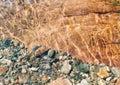 Pebbles in a Glen Coe Stream Stock Image