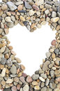 Pebbles heart frame Royalty Free Stock Photo
